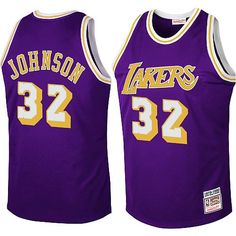 d41666621 Lakers Magic Johnson Jersey Authentic - NBA Cheap Magic Johnson ... Los  Angeles Lakers