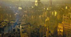 City of London after a German air raid, colour photograph, Getty Image, Time & Life Pictures. City Of London, Old London, Blitz London, London Pride, London Today, Rare Historical Photos, Rare Photos, Vintage Photos, Ww2 Photos