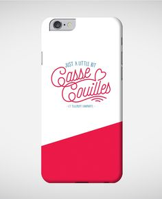Coques smartphone Femme iPhone little bit casse couilles rose Rose chine by Charlie's Dreams
