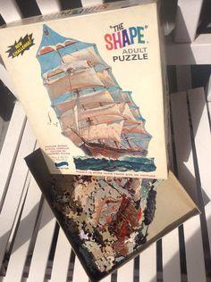 d6162e4b04b5 Ship Puzzle VINTAGE 1960s FAIRCHILD THE SHAPE All Ages Boats Fun  vintage  Vintage Games