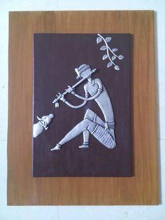 Qq Clay Wall Art, Mural Wall Art, Hanging Wall Art, Murals, Worli Painting, African Art Paintings, Newspaper Art, Plaster Art, Art Village