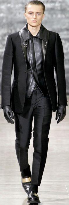 leather vest / waistcoat by Yves Saint-Laurent