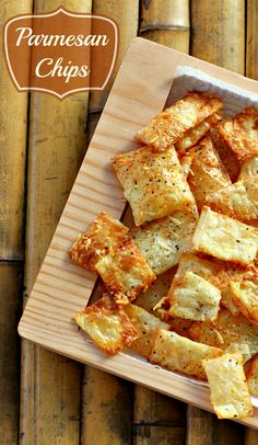 Parmesan Chips Recipe Appetizer For Football Parties Could definitely be a healthy snack with some substitutes! Finger Food Appetizers, Appetizer Recipes, Snack Recipes, Cooking Recipes, Phyllo Appetizers, Parmesan Chips, Phyllo Dough Recipes, Good Food, Yummy Food
