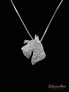 Scottish Terrier jewelry - sterling silver pendant and necklace