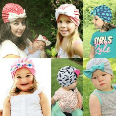 bow turban beanie hat sewing pattern