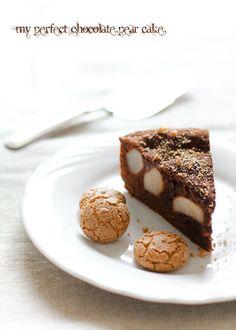 Torta pere, cioccolato, amaretti Moscato d'Asti...