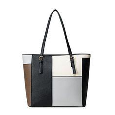 Moolecole Women s Multi Color PU Leather Handbag Black  Handbags  Amazon.com 7658c5f8d89eb