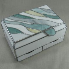 Multi Level Stained Glass Jewelry Box by JiSTglass on Etsy, $195.00