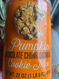 Trader Joe's Pumpkin Chocolate Chunk Oatmeal Cookie Mix Review - It's Pumpkin season at Trader Joe's and there isn't hardly a product in the store that doesn't have pumpkin and/or pumpkin spice flavoring added to it right now and based on my web traffic, people must be buy this stuff like crazy! The weather has started to turn to cooler days and nights this time of year. #chocolate #cookie #fall #pumpkin #spice #traderjoes #traderjoes Pumpkin Oatmeal Cookies, Pumpkin Spice, Unsweetened Chocolate, Trader Joe's, Spice Mixes, No Bake Cookies, Natural Flavors, Cocoa Butter, Xmas