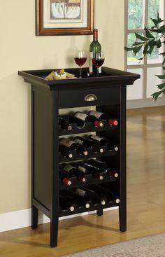 Rub Through 16 Bottle Wine Cabinet