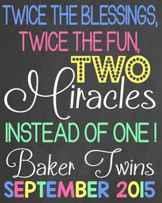 Twins Pregnancy Announcement by LaLaExpressions on Etsy
