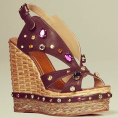 Dolce & Gabbana jewelled wedges, just in: in-store & online www.profilefashion.com #DolceGabbana #Wedges #Colour #Jewels #Embellished #SS13 #Spring #Summer #Shoes #Heels #Fashion #Style