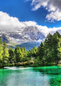 ✯ Blue Lake, Val d'Aosta, Italy