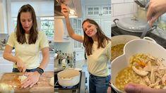 Jennifer Garner's Leftover Chicken Soup Is the Winter Hug We All Need Costco Chicken, Chicken Recipes, Leftover Chicken Soup, Diced Carrots, Winter Dishes, Leftovers Recipes, Breakfast Cookies, Jennifer Garner
