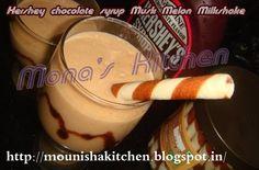 Hershey chocolate syrup Musk Melon Milk shake !!