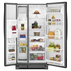 22 Cu. Ft. Side-by-Side Refrigerator with LED Lighting   Nebraska Furniture Mart