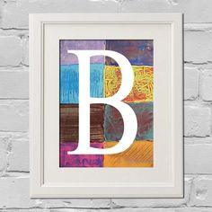 8 x 10 - Letter B Contemporary Abstract Art FINE ART PRINT. $12.00, via Etsy.