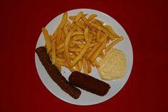 patat, frikandel met kroket en mayonaise