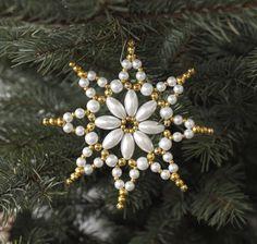 velká kovová hvězda zlato-bílá / Zboží prodejce anmarka   Fler.cz