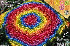 PHOODIE'S Rainbow Smarties Cake