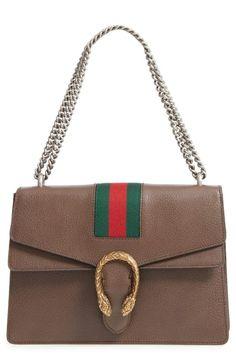0adc3121cca Gucci Dionysus Web Stripe Leather Shoulder Bag Dionysus