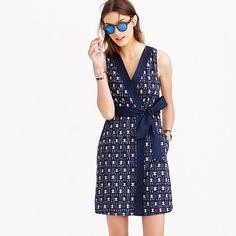 J. Crew | Casual and pretty! Wear with brown, yellow, orange or red high heel sandals or peep-toes OR gold flip flops