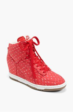 Normally I'm not really a fan of the wedge heel sneakers but I might need these! >>> Nike 'Dunk Sky Hi' Wedge Sneaker (Women) available at #Nordstrom