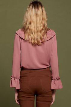Jenny Ruffle Tie Blouse Discover the latest fashion trends online at storets.com