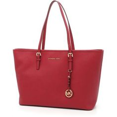 Geanta de umar Michael Kors Large Jet Set Travel Shopping Bag CHERRY rosie de dama