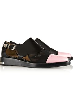 Toga | Cutout leather and mesh monk-strap loafers | NET-A-PORTER.COM