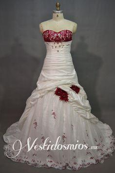 Rojo y blanco vestidos de novia