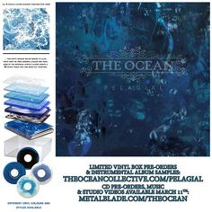 Upcoming album Pelagial by The Ocean Collective.   The packaging for this is so beautiful it makes me want to weep. The vinyl boxset has already sold out, devastatingly, but the gatefold vinyl and CD boxset are still available, so don't miss out! http://pelagic-records.com/webshop/