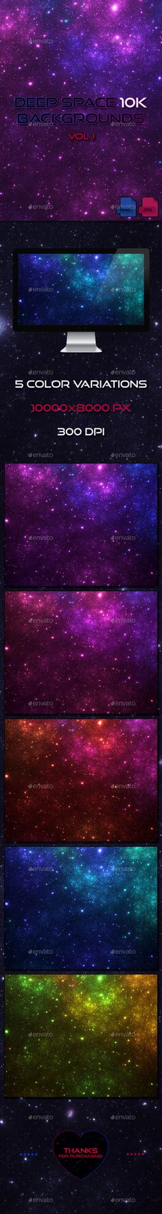 Deep Space 10K Backgrounds Vol1 by Dreamlancer 5 high-resolution deep space backgrounds in 10k resolution for your creative projects.Contains:5 Transparent PNG 5 JPG backgrounds