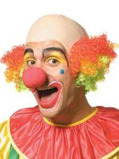 Deluxe Clown Headpiece With Multicolor Curly Hair - Las Fiestas