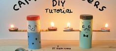 How to make your own folksy tea light candle holders