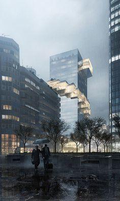 parisian rain by Nicholas O\'Leary | Architecture | 3D | CGSociety