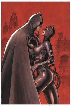 Batman & Catwoman by Enrico Marini Batman Arkham City, Batman Vs Superman, Gotham City, Catwoman Y Batman, Batman Love, Batgirl, Comic Books Art, Comic Art, Hq Marvel