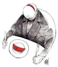 dis-moi ce que tu manges, je te dirai qui tu es - illustration : Angel Boligán
