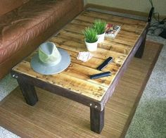 Finished diy Project coffee table from pallet