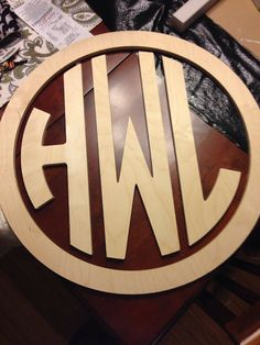 26 Wooden Monogram Circle Monogram with by AlphabetBoutique123