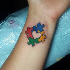Colorful-Puzzle-Piece-Wrist-Tattoo.jpg (730×730)