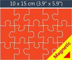 15 piece magnetic promotional jigsaw puzzle. Wedding invite idea!