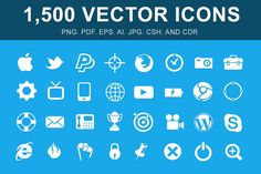 Check out 1,500 Vector Glyph Icons by Mister Pixel on Creative Market