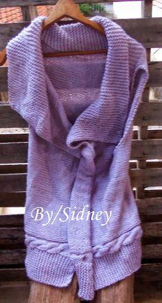 Sidney Artesanato: Meu Colete lilás
