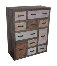 ladenkast massief eiken - drawer cabinet oak Pallet Furniture, Furniture Design, Design Art, Locker Storage, Drawers, Cabinet, Vintage, Home Decor, Google