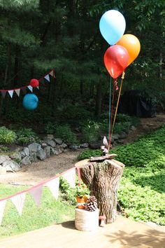 our woodland party - decor
