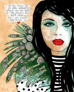Finding Me / original illustration ART Print Hand by studio3ten, $20.00