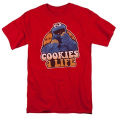Sesame Street Cookies 4 Life Red T-Shirt