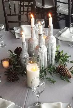 51 Charming Winter Wedding Decorations ❤ winter wedding decorations candle centerpiece sweetndesign #weddingforward #wedding #bride