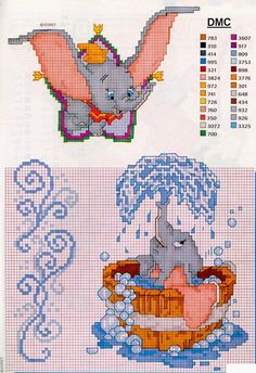 Thrilling Designing Your Own Cross Stitch Embroidery Patterns Ideas. Exhilarating Designing Your Own Cross Stitch Embroidery Patterns Ideas. Cross Stitch Fairy, Cross Stitch Kits, Cross Stitch Charts, Cross Stitch Designs, Disney Stitch, Cross Stitching, Cross Stitch Embroidery, Elefante Dumbo, Disney Cross Stitch Patterns